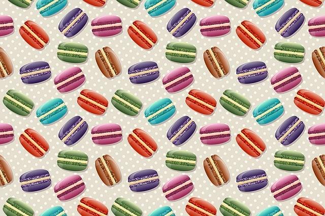 Macaron, Macaroon, Stylized Macaron, Design, Repetition