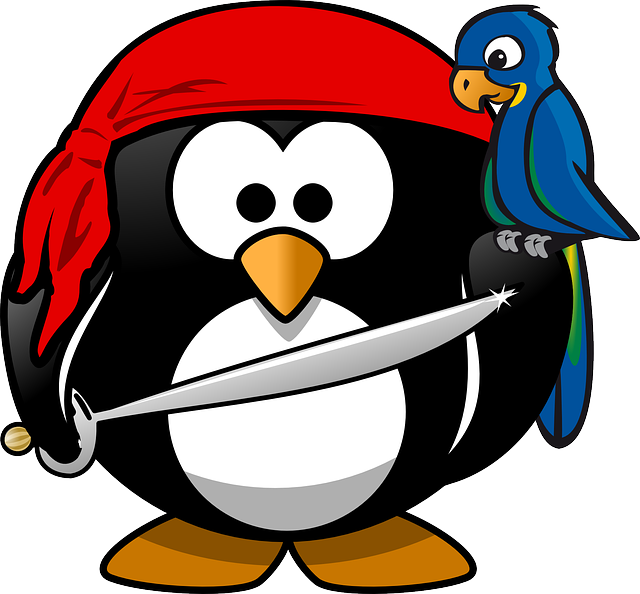 Penguin, Pirate, Tux, Animal, Bandana, Bird, Macaw