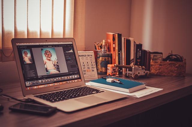Desk, Laptop, Office, Notebook, Mac, Macbook, Table