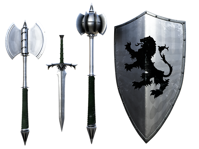 Weapons, Sword, Dagger, Shield, Mace, Axe, Middle Ages