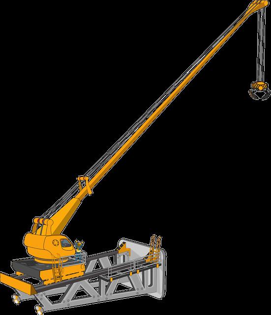 Crane, Machine, Heavy Equipment, Building Construction