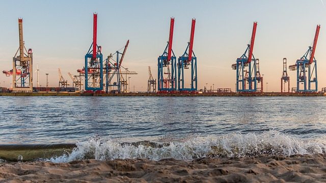 Industry, Sea, Machine, Waters, Hard, Elbe, Hamburg