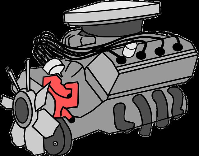 Engine, Motor, Combustion, Automobile, Machine, Power