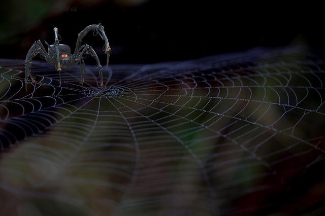 Mechanical Spider, Spider Web, Fantasy, Machine, Robot