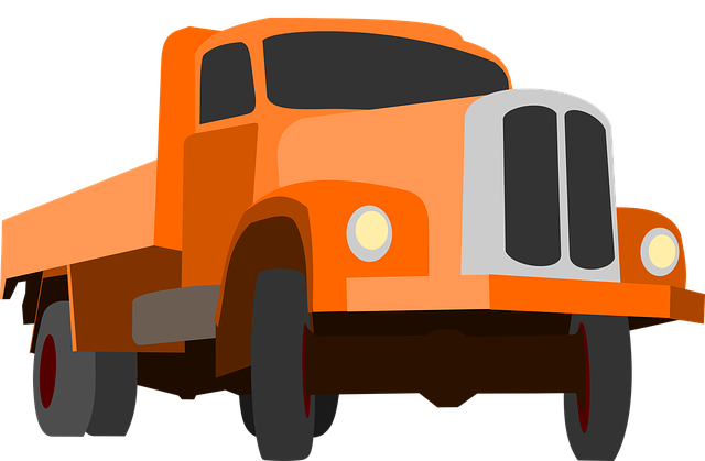 Truck, Traffic, Cargo, Goods, Orange, Auto, Machine