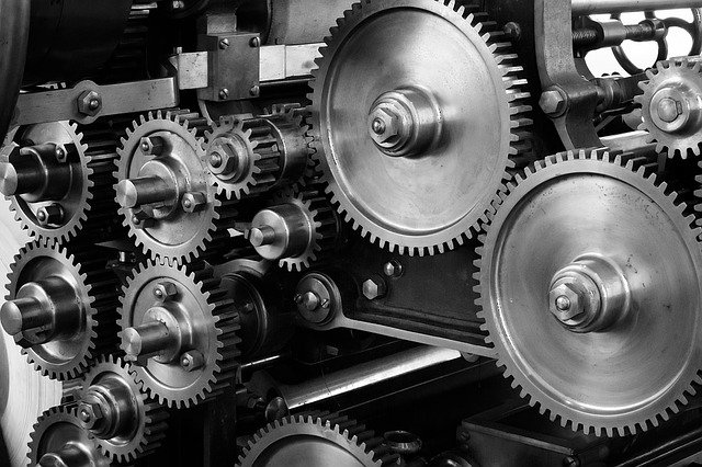 Gears, Cogs, Machine, Machinery, Mechanical