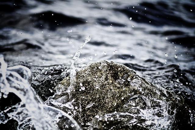 Clear, Drops Of Water, Liquid, Macro, Monochrome