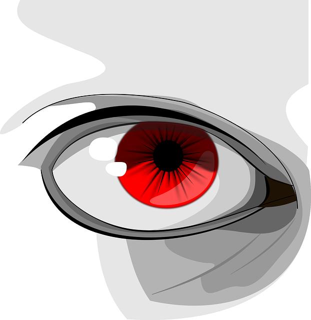 Eyes, Red, Human, Organ, Macro, Pupil, Black, Eyelid
