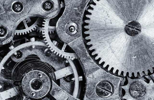 Macro, Cogwheel, Gear, Engine, Vintage, Industrial