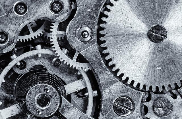Macro, Cogwheel, Gear, Engine, Vintage, Industrial