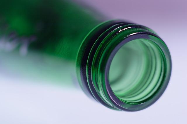 Appletiser, Bottle, Green, Glass, Macro, Drink