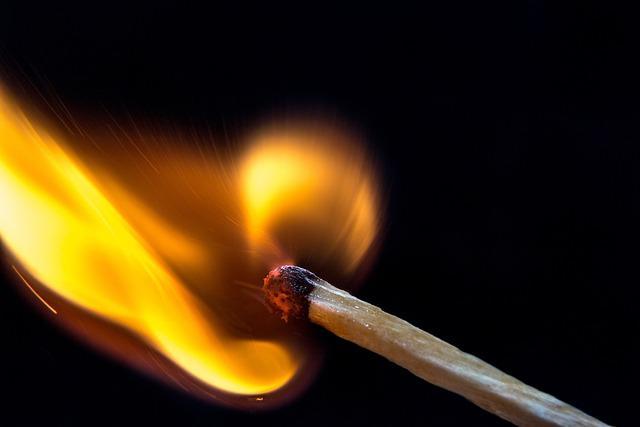 Fire, Match, Light, Flame, Burn, Macro, Wooden