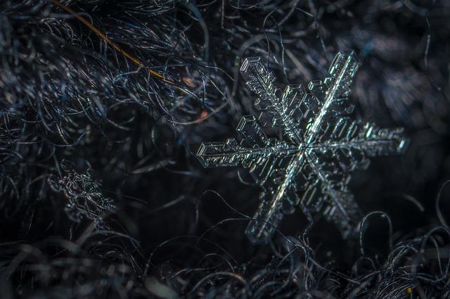 Snowflake, Macro, Snow, Wool