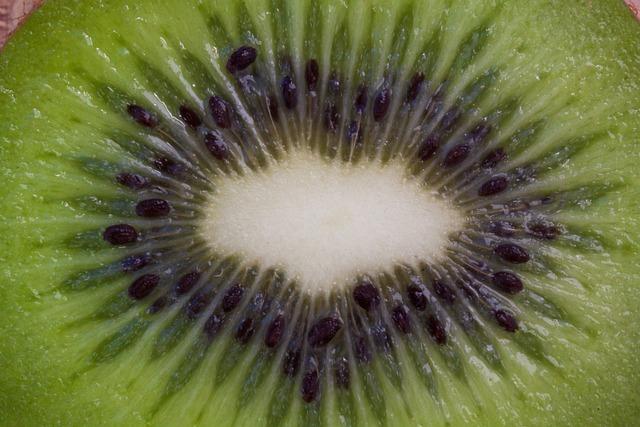 Kiwi, Fruit, Vitamins, Healthy, Food, Sliced, Macro
