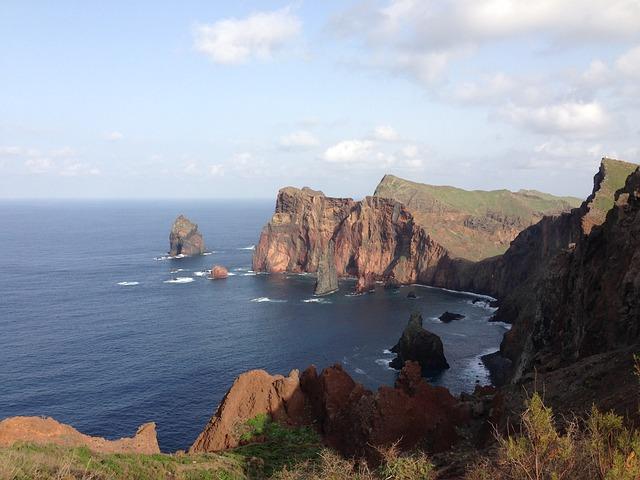 Madeira, Funchal, Portugal, Coast, Cliff, Sea, Ocean