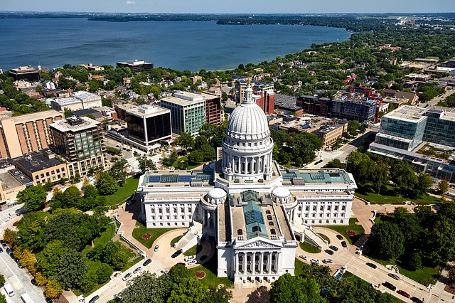 Madison, Wisconsin, City, Urban, Buildings, Downtown