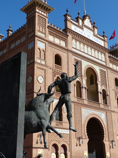 Madrid, Bull Fighting, Arena, Monument, Statue, Torero