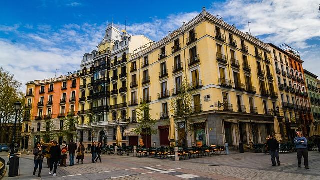 Madrid, Plaza East, Urban, City, Capital, Downtown