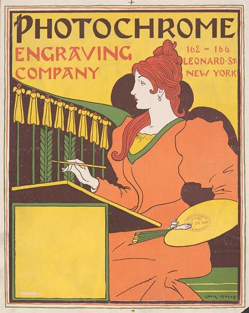 Vintage, Lady, Poster, 1894, Magazine, Art, Deco