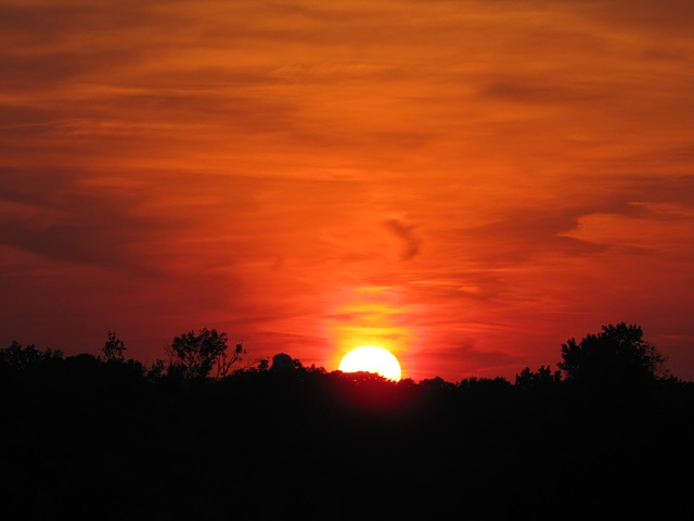 Sunset, Sky, Orange, Sun, Yellow, Magee, Mississippi