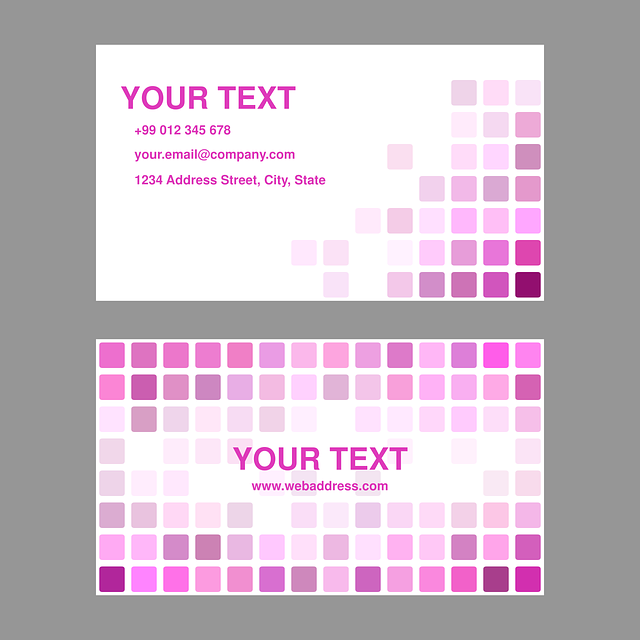 Magenta, Pink, Business, Card, Design, Template