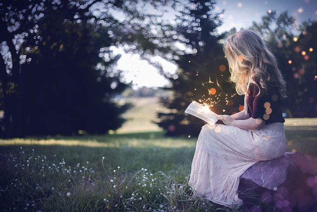 Book, Girl, Magic, Fairy Tales, Dream, Nature, Read