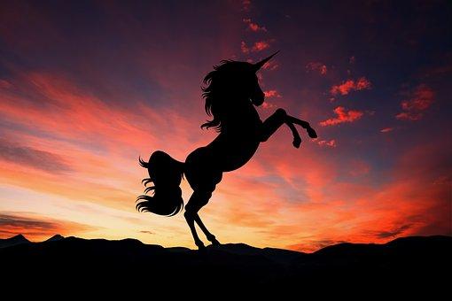 Unicorn, Sunset, Fantasy, Magic, Horse, Creature, Myth