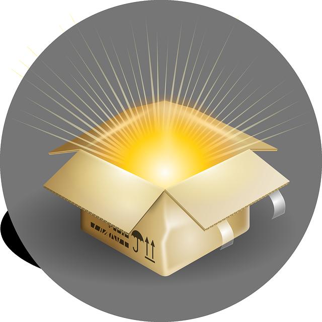 Box, Open, Magic, Glowing, Unwrapped