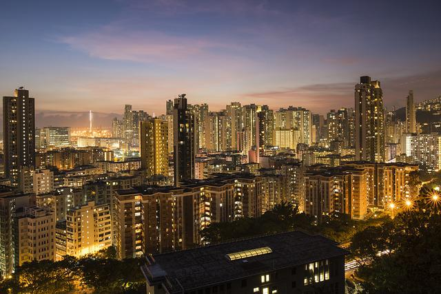 Hong Kong, Skyline, Night, Urban, Magic Hour