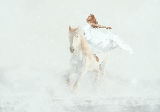 Fantasy, Horse White, Woman, Ride, Magic