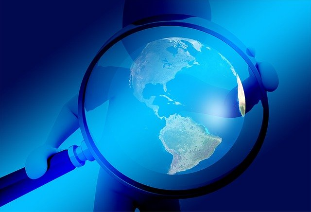 Hand, Magnifying Glass, Earth, Globe, Investigation