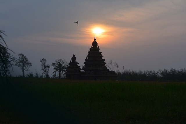 Mahabalipuram, Sunrise, Shore Temple, Chennai, Old