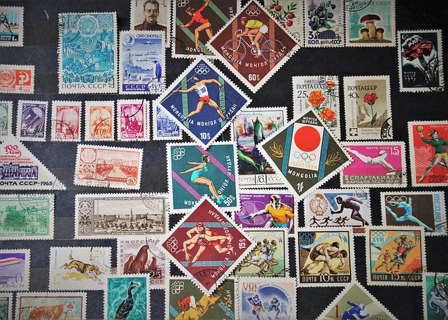 Postage Stamps, Mail, Weathering, Brand, Hobby, Seal