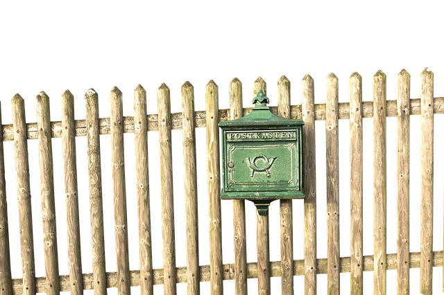 Mailbox, Fence, Wood Fence, Post, Paling, Metal
