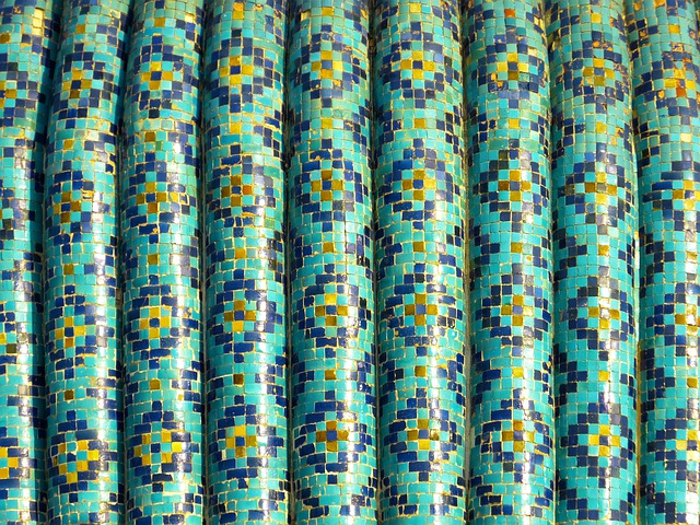 Mosaic, Pattern, Artfully, Turquoise, Majolica, Ceramic
