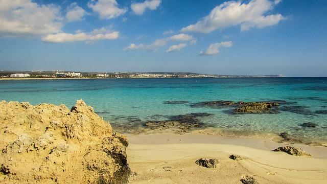 Cyprus, Ayia Napa, Makronissos Beach, Landscape