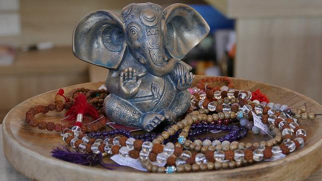 Jewellery, Chains, Bracelets, Mala, Statue, Deco