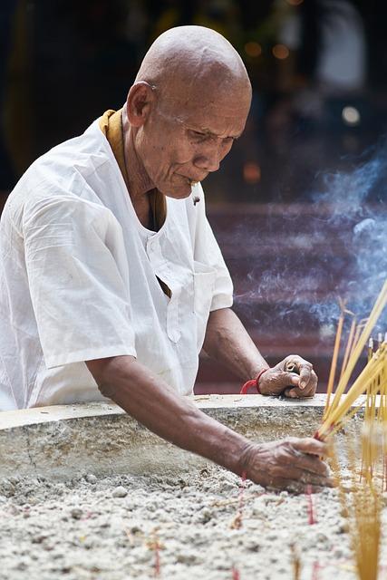 Monk, Buddhist, Buddhism, Male, Temple, Asian, Faith