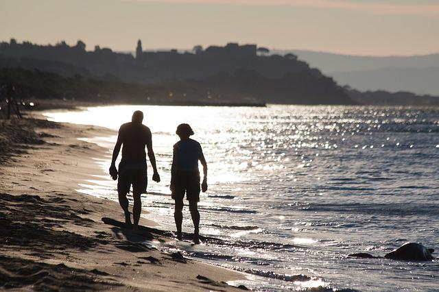 Person, Human, Female, Male, Beach, Pair, Best-ager