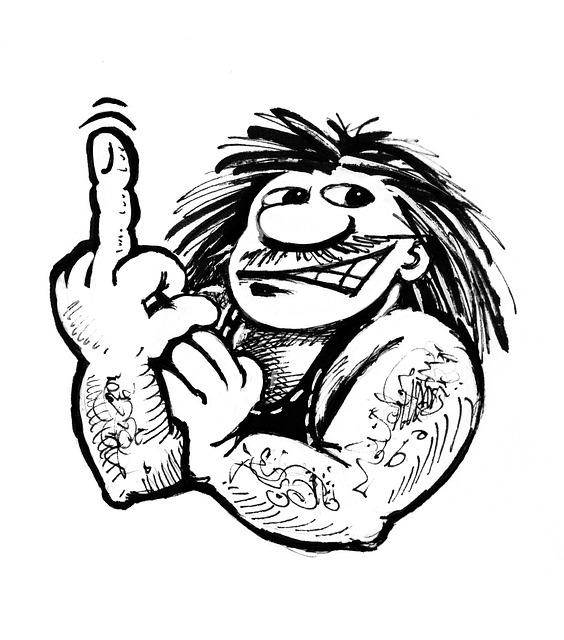 Rocker, Finger, Graphic, Male, Personality, Rau