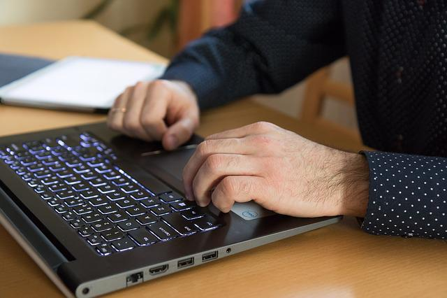 Computer, Hands, Work, Keyboard, Business, Laptop, Male