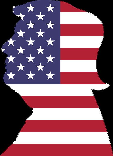 Donald Trump, President, Flag, Male, Man, Politician