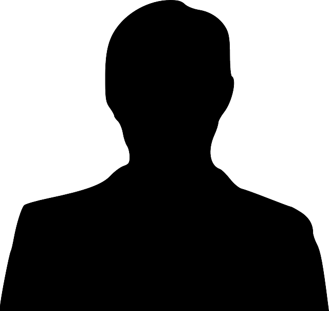 Silhouette Of A Man, Male Silhouette, Bust Silhouette