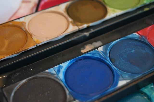 Color Paint Box, Malkasten, Watercolor, Color