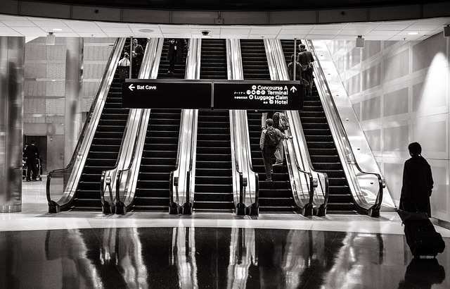 Escalators, Shopping Mall, Up, Stairs, Mall, Shopping