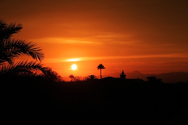 Sunset, Landscape, Horizon, Algaida, Mallorca, Sun