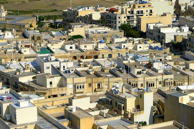 Homes, Roofs, Flat Roofs, Building, City, Malta, Gozo