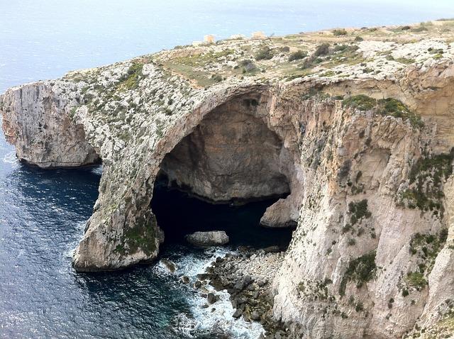 Landscape, Sea, Malted, Cave