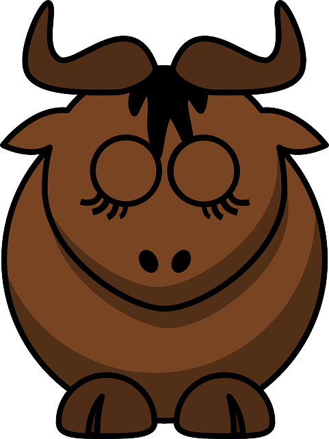 Gnu, Animal, Cute, Funny, Mammal, Sleeping, Bull, Brown