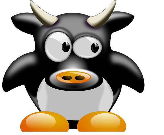 Cow, Animal, Mammal, Cute, Tux, Cartoon, Penguin